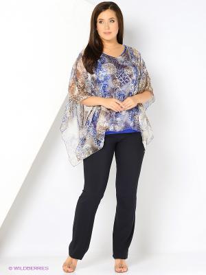 Блузка YUVITA. Цвет: синий