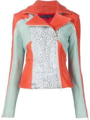 Байкерская куртка с панельным дизайном Dominic Louis. Цвет: красный