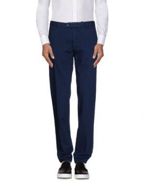 Повседневные брюки LUIGI BIANCHI Mantova. Цвет: синий