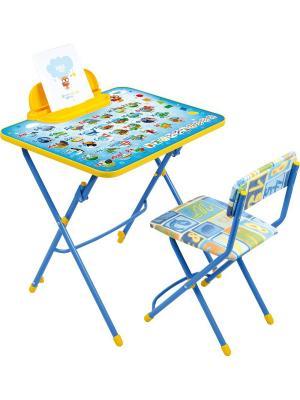 Комплект мебели (стол-парта+пенал+стул.мягк) Nika. Цвет: синий