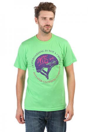 Футболка  344 Green Anteater. Цвет: зеленый