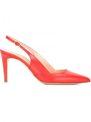 Туфли с ремешком на пятке Daina Rupert Sanderson. Цвет: красный