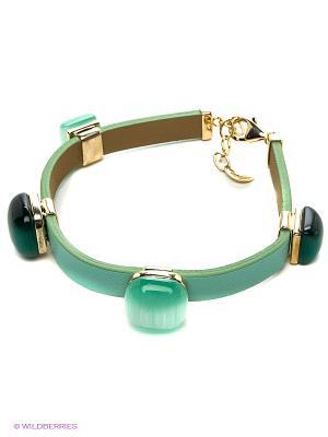 Ювелирный браслет Art Silver. Цвет: зеленый