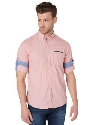 Рубашка TOM TAILOR. Цвет: розовый, кремовый, бледно-розовый