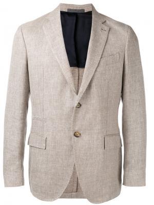 Классический пиджак Eleventy. Цвет: коричневый