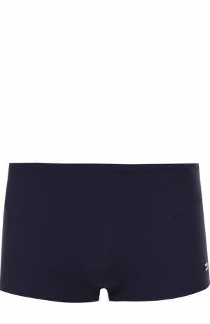 Однотонные плавки BOSS. Цвет: темно-синий