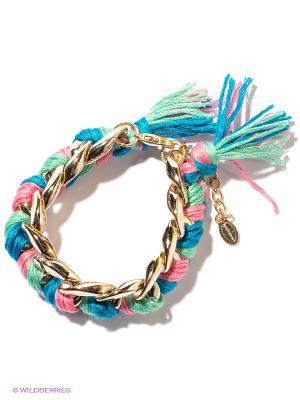 Браслет Funky Fish. Цвет: золотистый, голубой, зеленый, розовый