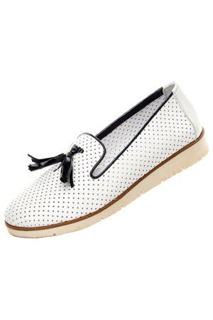Туфли Norka. Цвет: белый
