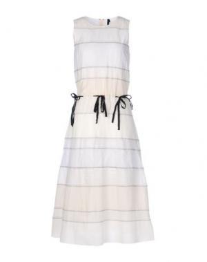 Платье длиной 3/4 SARA LANZI. Цвет: слоновая кость