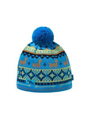 Шапка Kama. Цвет: синий, голубой, оранжевый