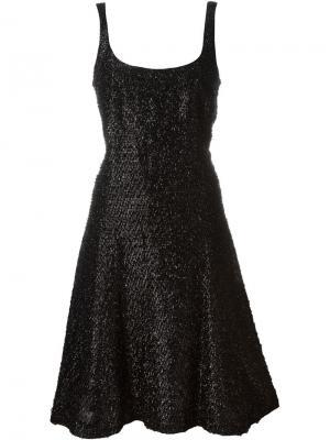 Платье с эффектом мишуры Stephen Sprouse Vintage. Цвет: чёрный