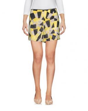 Повседневные шорты EQUIPMENT FEMME. Цвет: желтый