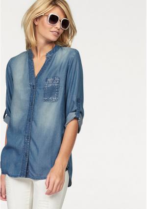 Джинсовая блузка Laura Scott. Цвет: синий потертый