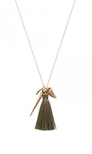 Ожерелье the horn Melanie Auld. Цвет: металлический золотой