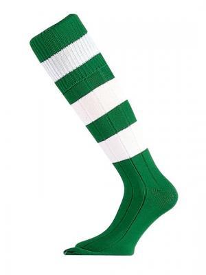 Гетры футбольные MITRE Mercury. Цвет: зеленый, белый