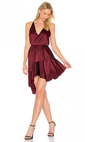Шелковое платье richie Acler. Цвет: вишня