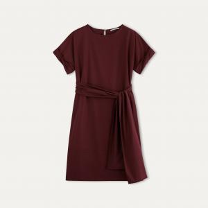 Платье-миди POMANDERE. Цвет: бордовый,темно-синий