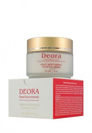 Крем ночной увлажняющий и питательный Deora Cosmetics. Цвет: бежевый