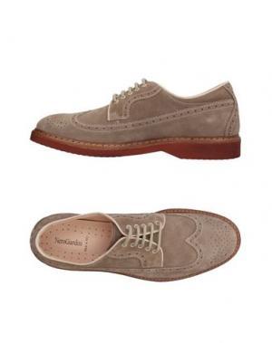Обувь на шнурках NERO GIARDINI. Цвет: голубиный серый