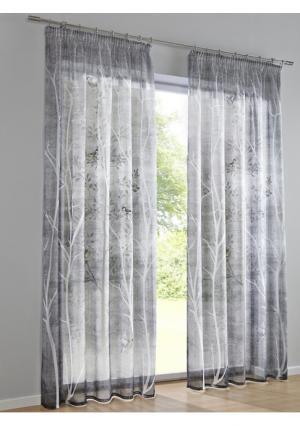 Гардина Heine Home. Цвет: серый/серо-коричневый