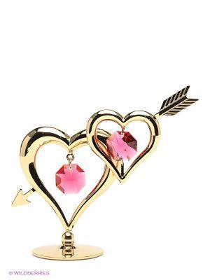 Фигурка Сердце со стрелой Юнион. Цвет: золотистый, малиновый