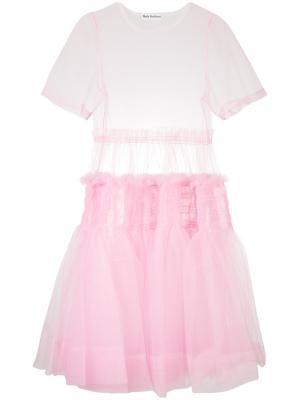 Платье Tang Molly Goddard. Цвет: розовый и фиолетовый