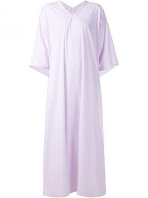 Длинное платье-туника c V-вырезом Liwan. Цвет: розовый и фиолетовый