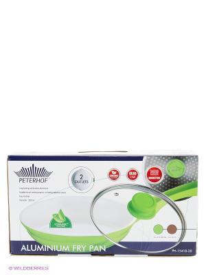 Сковорода керамическрое покрытие (газ/электро) 20 см Peterhof. Цвет: зеленый