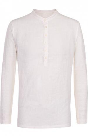 Льняная рубашка хенли 120% Lino. Цвет: белый