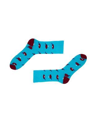 Носки Sammy Icon. Цвет: голубой, бордовый