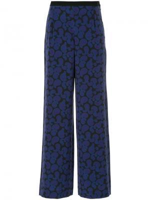Широкие брюки с узором пейсли Christian Wijnants. Цвет: синий