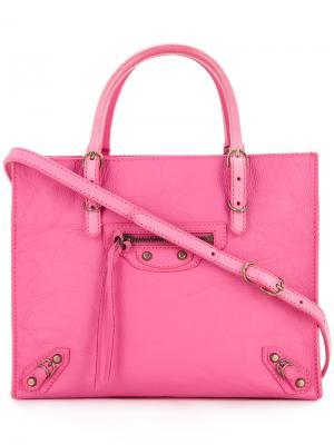 Сумка-тоут  Mini Paper Balenciaga Vintage. Цвет: розовый и фиолетовый