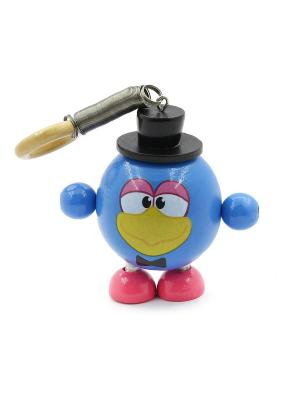 Развивающая игрушка дергунчик Кар-Карыч Игрушки из дерева. Цвет: синий