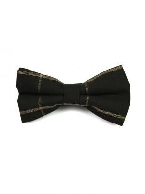 Галстук-бабочка Churchill accessories. Цвет: черный, горчичный, желтый, белый