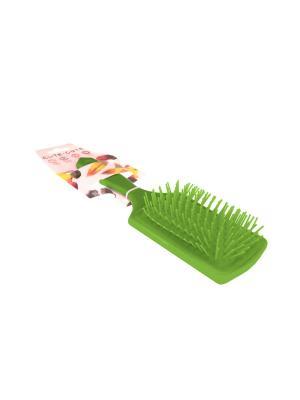 Расческа прямоугольная массажная, пластиковая, зеленая CUTE-CUTE.. Цвет: зеленый