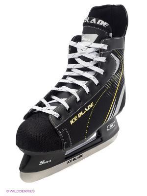 Коньки хоккейные ICE BLADE Shark 1/6. Цвет: черный, желтый, белый