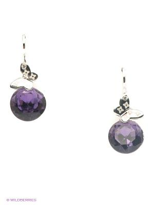 Серьги Lovely Jewelry. Цвет: фиолетовый