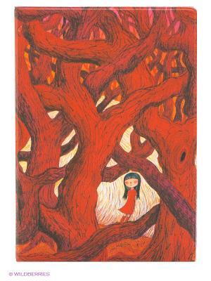 Обложка для автодокументов В красном кустарнике Mitya Veselkov. Цвет: красный