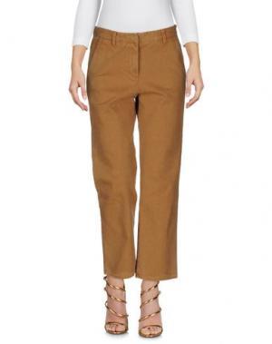 Джинсовые брюки MASSCOB. Цвет: верблюжий
