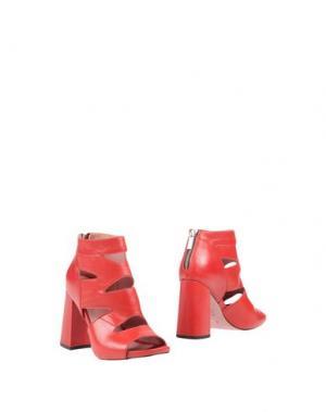 Полусапоги и высокие ботинки WO MILANO. Цвет: красный