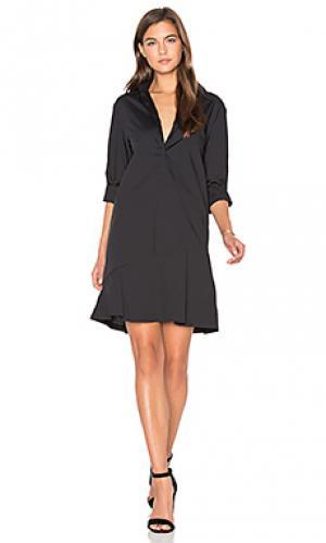 Платье-рубашка the siena TY-LR. Цвет: черный