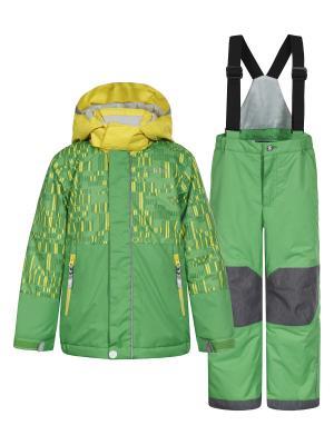Комплект (куртка+брюки) Icepeak. Цвет: зеленый, желтый