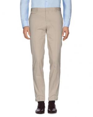 Повседневные брюки FAÇONNABLE. Цвет: бежевый