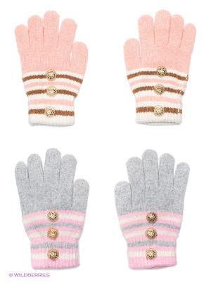 Перчатки, 2 пары FOMAS. Цвет: серый, розовый