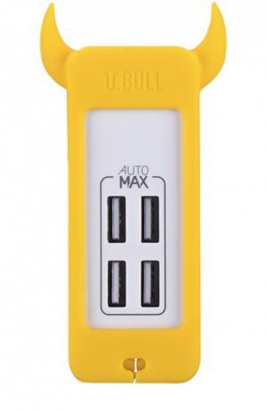 Зарядная станция U.Bull на 4 устройства Momax. Цвет: желтый