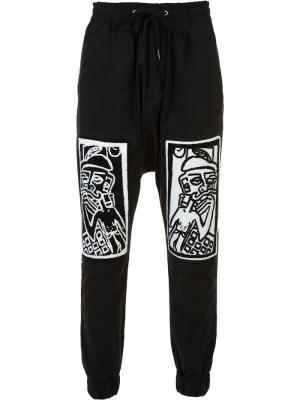 Спортивные брюки с принтом Haculla. Цвет: чёрный