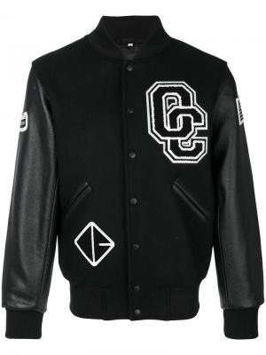 Куртка-бомбер с заплатками Opening Ceremony. Цвет: чёрный