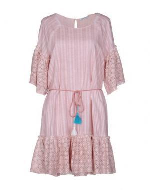Короткое платье ANGELA MELE MILANO. Цвет: розовый