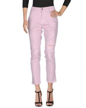 Джинсовые брюки GAëLLE Paris. Цвет: розовый