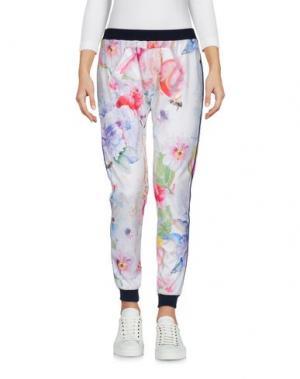 Повседневные брюки HAPPINESS. Цвет: белый